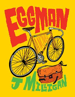 Eggman, bike messenger, new york city, eggs, Faberge, track bike, consultant, perception management, book, novel, jack fish, courier code, 9-11, 2003, punk noir, noir, cult, the flow, milligan, atlantis